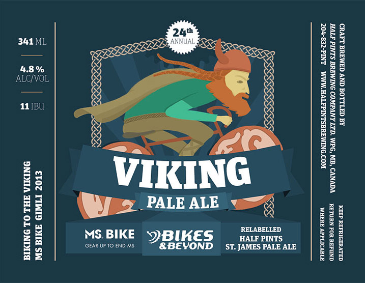 Viking Ale label