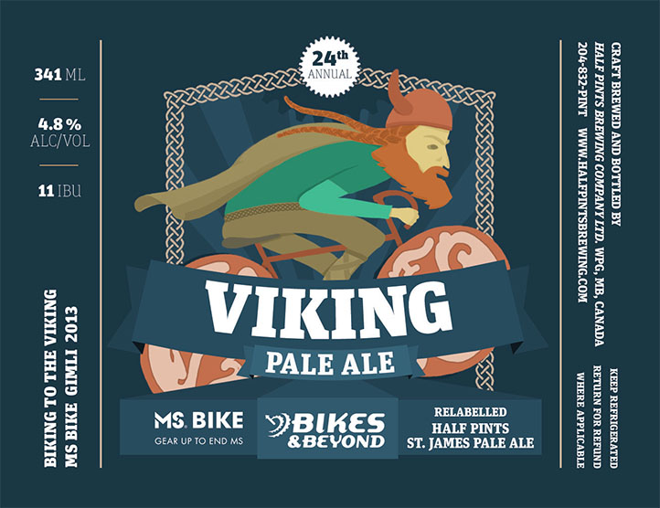 Viking ale beer label design