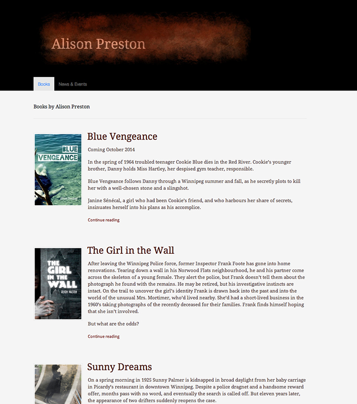 Alison preston website