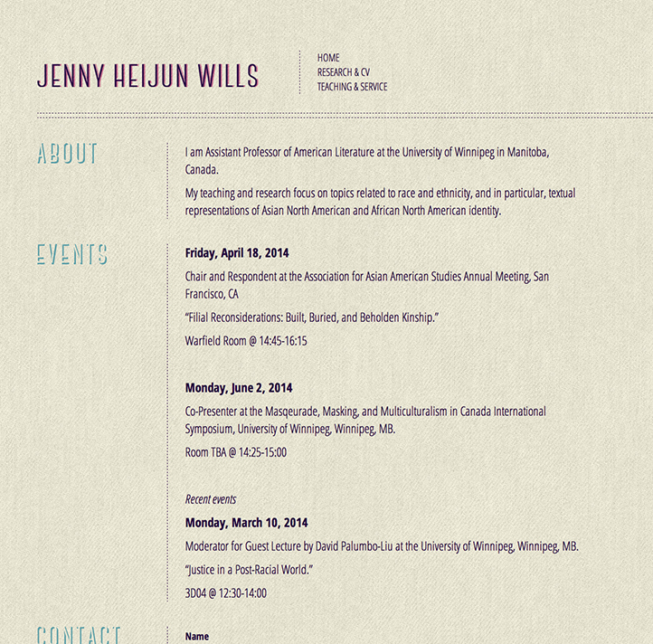 Jenny Wills website