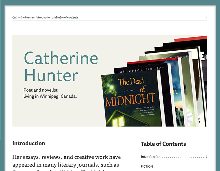Catherine Hunter author website